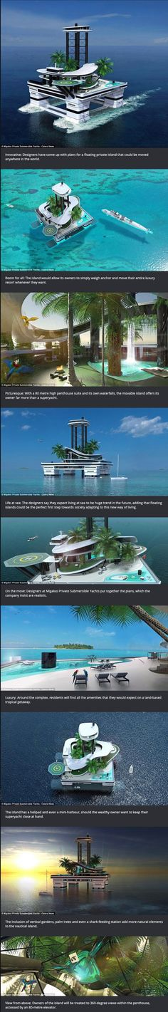 Forget the mega yacht - tomorrow's billionaires can buy a portable ISLAND...