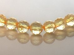 AAA Golden Yellow Citrine Microfaceted Round by JewelryQuestDesign, $22.99