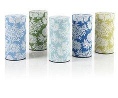 Flora Tea Tins... I have 2 different colors in this pattern!  They are so beautiful and help round out my daily tea experience.