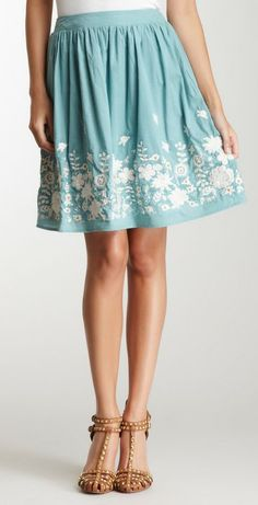 Blue Tassel Embroidered Full Skirt (not amped for the shoes though)