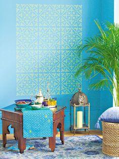 Sie müssen kein Picasso sein, um Ihre Wohnräume mit kunstvollen Prints zu schmücken. Die Schablonentechnik macht ein Facelift Ihrer Wände zum Kinderspiel.