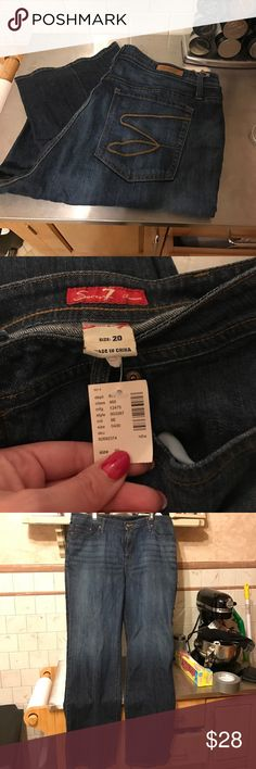 Seven bootcut jeans Lane Bryant 20W NWT Seven Brand Jeans my favorite Brand however I lost weight and they are now to big. Seven7 Jeans Boot Cut