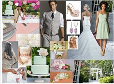 Tropical Garden wedding Board