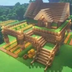 Cute Minecraft Houses, Minecraft Farm, Minecraft Mansion, Minecraft House Tutorials, Minecraft Plans, Minecraft Houses Blueprints, Minecraft House Designs, Minecraft Construction, Minecraft Survival