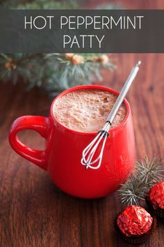 - 2 cups whole milk - 3 oz bittersweet chocolate- 2 tbsp chocolate liqueur- 1 drop of peppermint extract- whiskey (optional but highly recommended)Whisk in saucepan over medium heat. Top with peppermint whipped cream, boozy marshmallows, or a candy cane if desired.