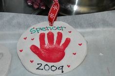 Wee Wilhites: Dough Handprint Ornaments