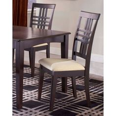 9 piece dining room table and chairs Hillsdale Furniture, Wooden Furniture, Dining Room Furniture, Dining Room Table, Table And Chairs, Side Chairs, Cool Furniture, Wood Chairs, High Back Dining Chairs