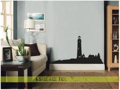Beautiful Light House Maritime Seaside Wall Art Sticker | eBay