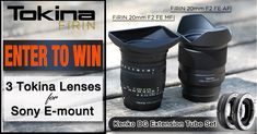 Take sweet wide angle photos and video with these new Tokina FíRIN 20 F2 FE lenses! #contest #giveaway #entertowin #photography #photo #video #filmmaking