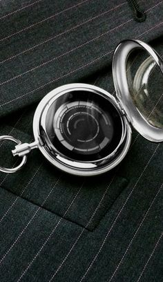 Pocket Watches: Touch Screen LCD Pocket Watch: Dual Time, Date, Alarm. Kisai Rogue Touch.