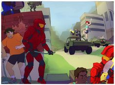 Halo Drawings, Halo Armor, Achievement Hunter, Red Vs Blue, Red Team, Fantasy Castle, Fandoms, Cartoon Crossovers, Rooster Teeth
