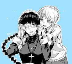 Black Lagoon manga,Garcia Lovelace and Roberta in a tender moment.All characters by Rei Hiroe. OCYAAbTph.jpg medium