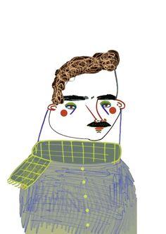 Illustration by Ashley Percival. #illustration #art #illustrator #character #fashion #design #artwork #book #winter #scarf