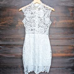 Lioness wedding bells sleeveless lace bodycon dress in white - shophearts - 1 Lace Summer Dresses, Cute Dresses, Prom Dresses, Formal Dresses, Wedding Dresses, White Lace Bodycon Dress, Lace Dress, Dress Up, White Dress