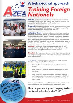 Azea Behavioural Safety Training | Reducing Accidents in the Workplace - Training Foreign nationals - http://www.azea.co.uk