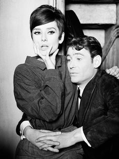 Audrey Hepburn and Peter O'Toole while filming How to Steal a Million, 1965, photographed by Terry O'Neill