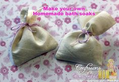 Make your own homemade bath soaks for Valentine's Day or any day.