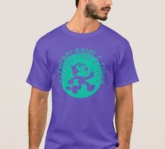 Be Casual Men's T-Shirt Teal on Purple