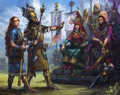 Surrender of Sartarite rebels to Lunar Army, 1613. By Jan Pospisil for the Guide to Glorantha (2014).
