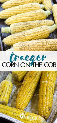 Traeger Grilled Corn on the Cob This easy grilled Corn on the Cob is cooked on your Traeger or other wood-pellet grill. Check it out, and make it today! Traeger Smoker Recipes, Traeger Bbq, Pellet Grill Recipes, Grilling Recipes, Grilling Tips, Vegetarian Grilling, Grilling Chicken, Chicken Steak, Healthy Grilling