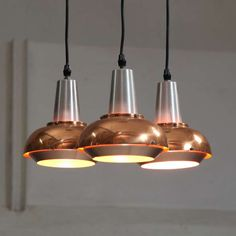 Aluminium and copper Fog & morup 1960's chandelier | From a unique collection of antique and modern chandeliers and pendants  at http://www.1stdibs.com/furniture/lighting/chandeliers-pendant-lights/