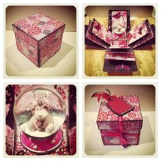 Handmade exploding box card by Gail Wolfe