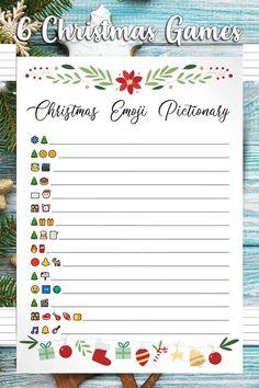 Christmas Drinking Games, Christmas Party Activities, Christmas Activities For Families, Christmas Games For Family, Holiday Party Games, Christmas Paper Crafts, Holiday Fun, Holiday Parties, Emoji Christmas