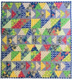 Quilt using Folk Modern fabric by Ellen Baker for Kokka.