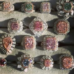 Exquisite Pink Diamond Rings (With images) Pink Diamond Ring, Halo Diamond, Diamond Jewelry, Body Jewelry, Fine Jewelry, Jewlery, Fashion Rings, Fashion Jewelry, Jewelry Accessories