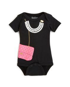 Sara Kety Girls' Necklace & Purse Bodysuit - Baby