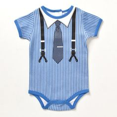 Infant Just Like Dad Suspender and Tie Creeper - Baby Essentials Bubble Dresses & Sets - Events