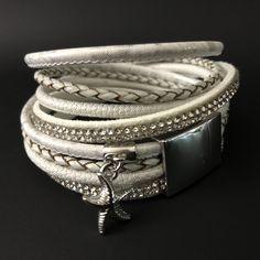 White starfish multi-stranded bracelet