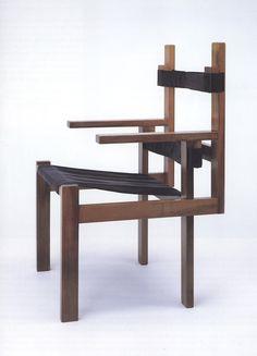 Lattenstoel van Marcel Breuer (1922). Stijl = Bauhaus.