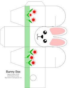 Free Printable Bunny Box for Easter