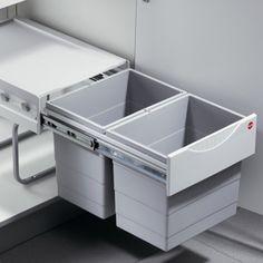 Poubelle coulissante à positionner dans votre meuble sous évier! idéale pour votre cuisine