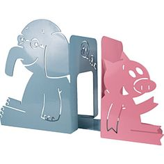 Yottoy Elephant & Piggie Bookends Durable, precision-cut metal construction High gloss coating x x 1 pair per package Kindergarten Classroom, Classroom Themes, Modern Classroom, Classroom Resources, Pigeon Books, Mo Willems, Author Studies, Grey Elephant, Kids House