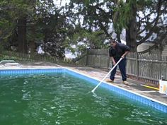 Pool Green To Clean! Not opened in 2 Years! - YouTube