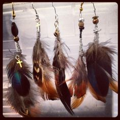 #jewellery #vintage #boho #vintageluxe #handmade #feather #earring #solo #bohemian #natural