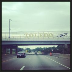 When entering Down Town Toledo, you would see Toledo Rocket!!!