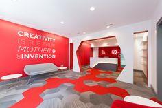 Brandon Agency - in Myrtle Beach, SC #midsizeoffice #commercialspaces #commercialinteriors #design #flooring
