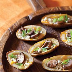 Blue Cheese & Mushroom Potato Skins  These where a huge hit.  Very easy to make.