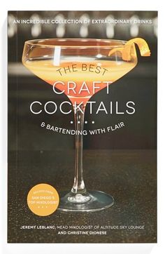 'The Best Craft Cocktails' Book available at #Nordstrom #giftsforhim