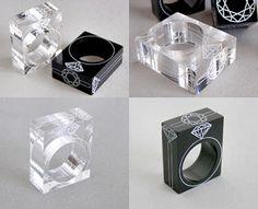 'Ufo Products' (Yuho Fukuhara, JP) Acrylic Cube Diamond Rings
