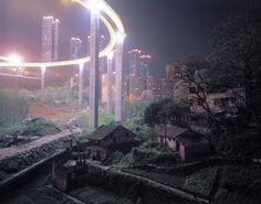 City life encroaching on rural life in China : interestingasfuck