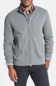 Faconnable Interlock Knit Full Zip Sweatshirt | Activewear, Pullovers, Sweater and Clothing