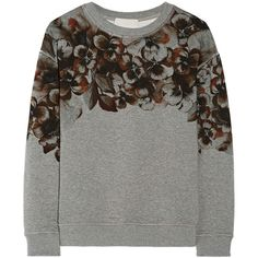 Jason Wu Floral-print cotton sweatshirt (21.480 RUB) ❤ liked on Polyvore featuring tops, hoodies, sweatshirts, sweatshirt, sweaters, grey, sweatshirts hoodies, grey sweatshirt, gray top and floral top