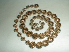 vintage weiss topaz crystal necklace by qualityvintagejewels, $62.00