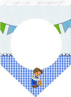 Uau! Veja o que temos para Bandeirinha Varalzinho Festa Junina Azul