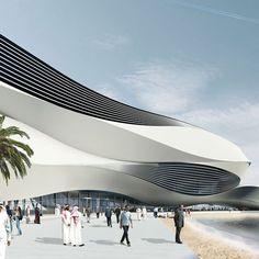 Futuristic Building Plans : Modern Art Museum in Dubai UAE Post Modern Architecture, Organic Architecture, Futuristic Architecture, Facade Architecture, Amazing Architecture, Museum Of Modern Art, Art Museum, Middle Eastern Art, Amazing Buildings