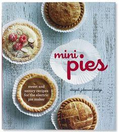I love cute mini pies!! #Mini Pies Cookbook, $20